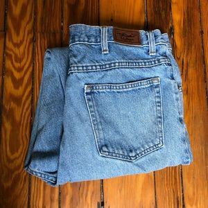 L.L. Bean Natural Fit Faded Denim Jeans (35X34)